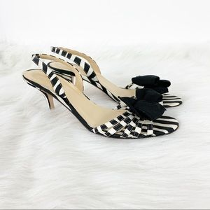 Kate Spade l Maribeth Zebra Print Open Toe Heels